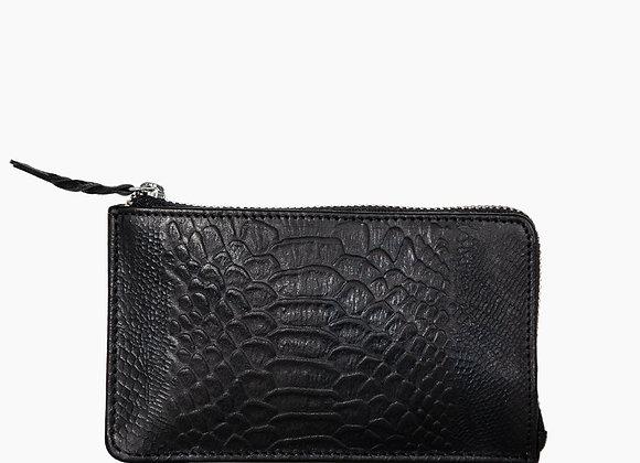 DétaiL wallet zwart anaconda glad