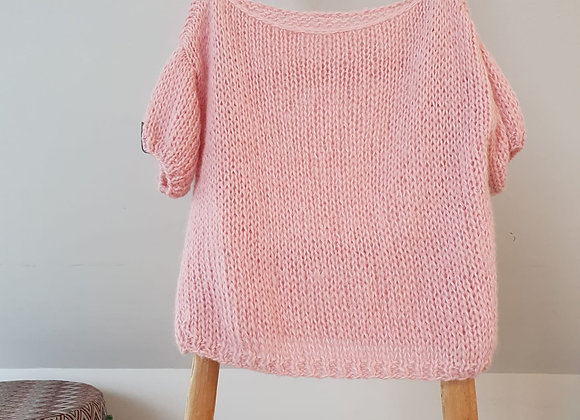 Brimanella roze trui korte mouw