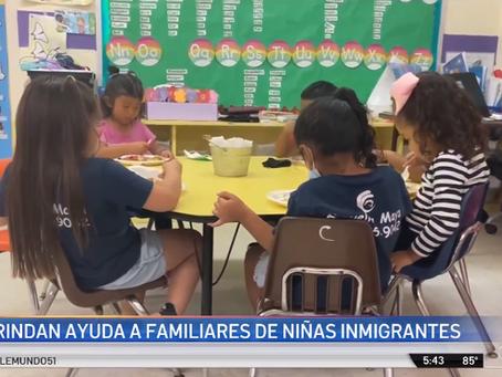 Brindan ayuda a familiares de niñas halladas en la frontera