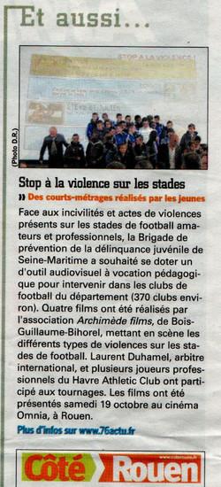 stop à la violence à l'Omnia