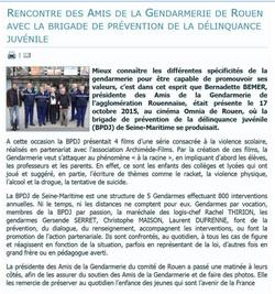 article amis de la gendarmerie BPDJ Omnia 2015