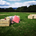 Straw bales, blankets & cushions available to hire