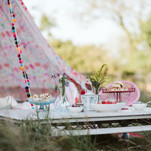 Tea party table and tent available as an extra