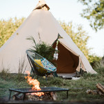 Pitch your own tent for extra guests in the pop up Wild Camping field
