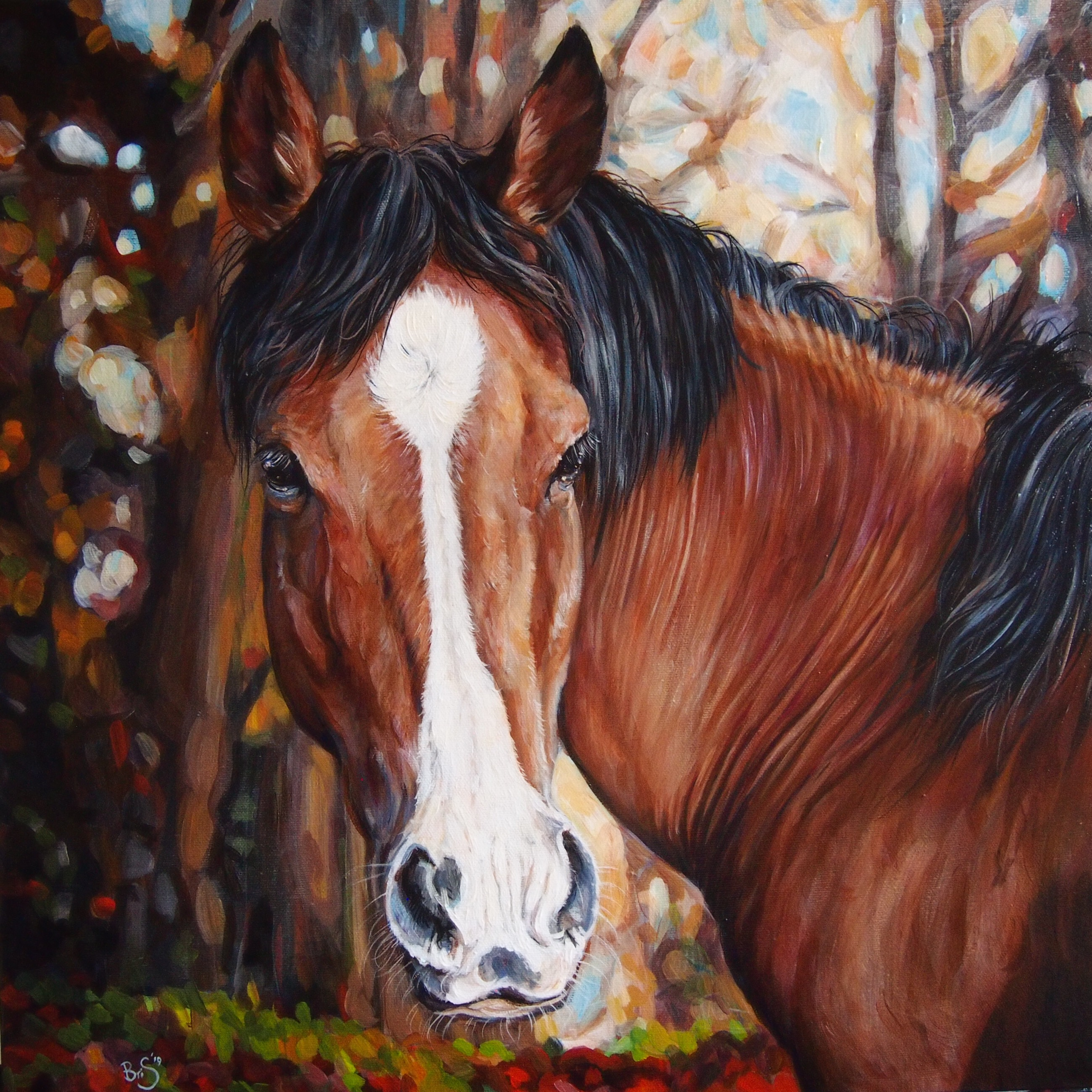 Large horse portrait