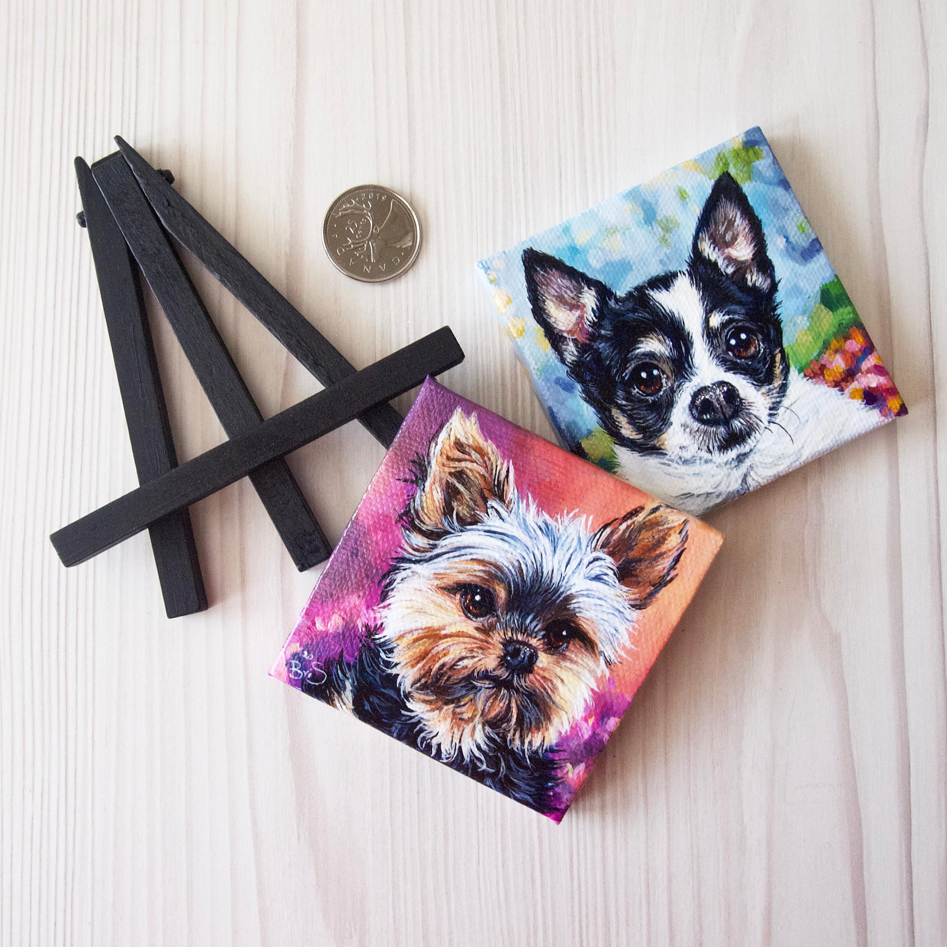 Two Mini Pet Portraits