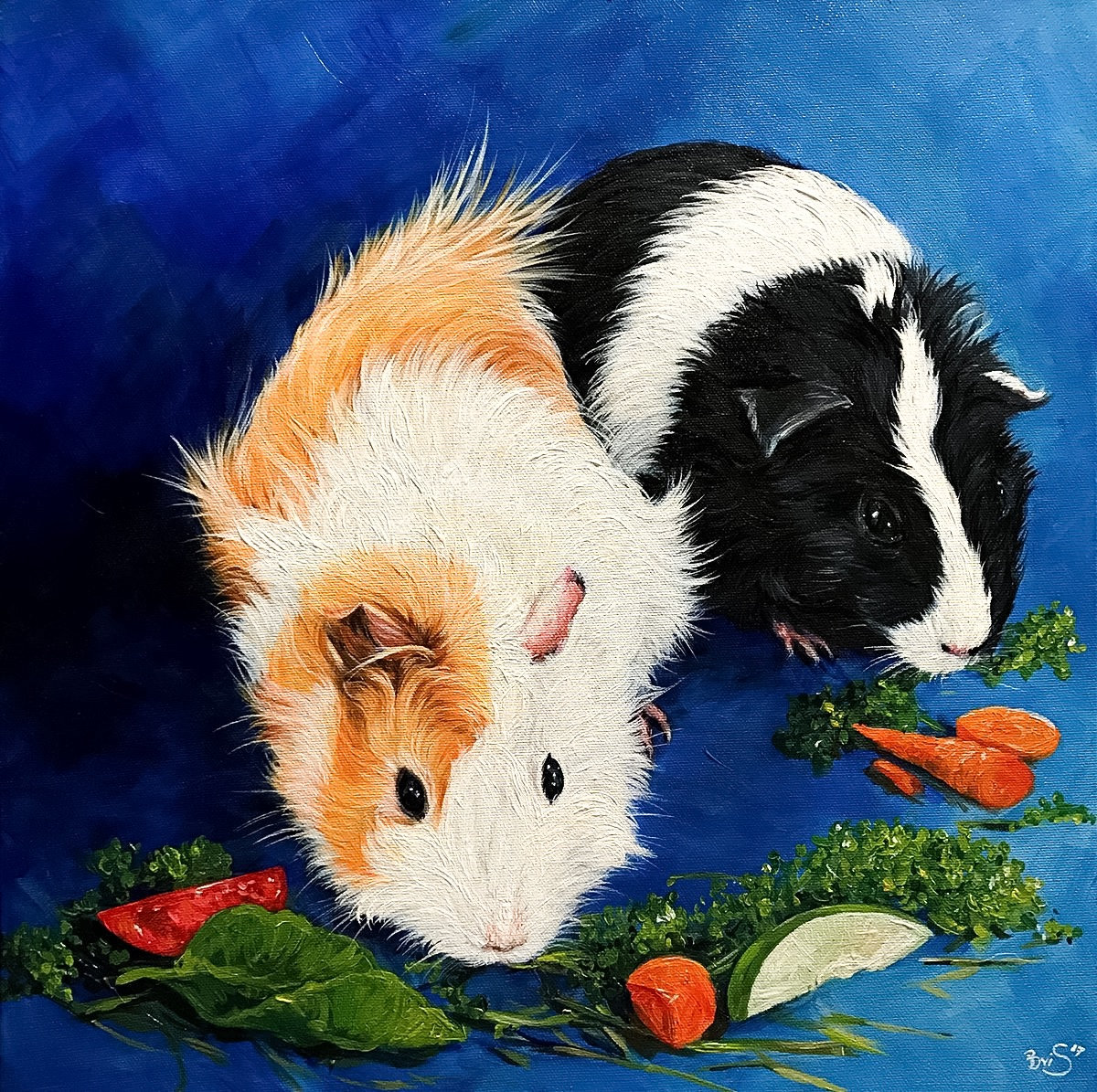 """16"""" x 16"""" Two Pets"""