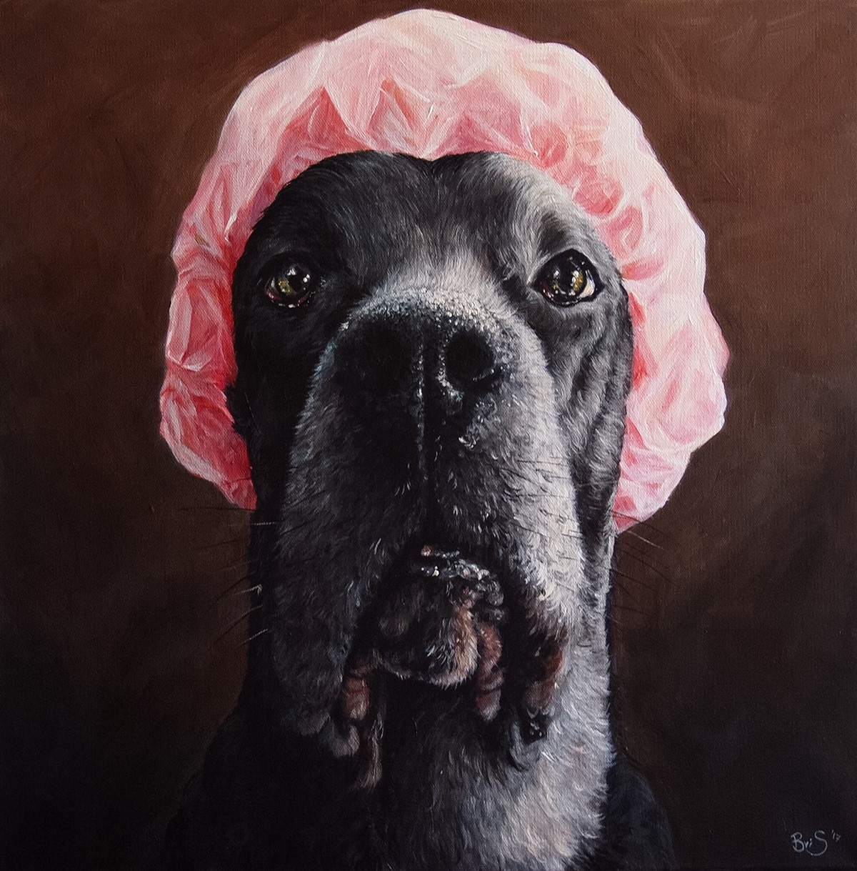 Large 18 inch portrait of a dog