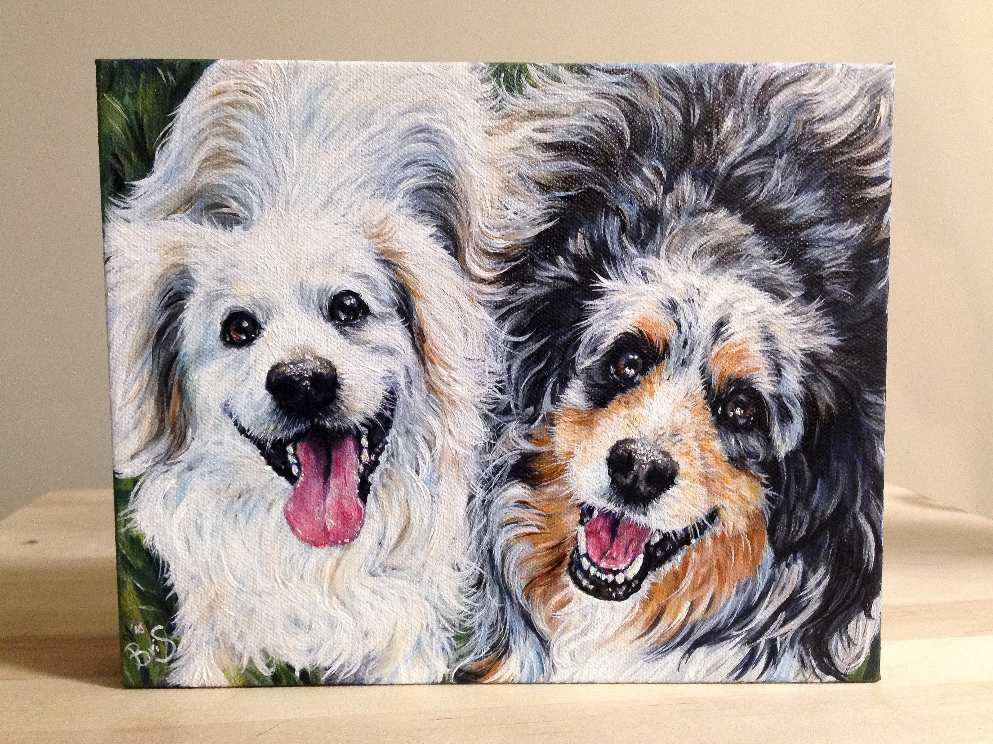 """8"""" x 10"""" Two Pets 1 Portrait"""
