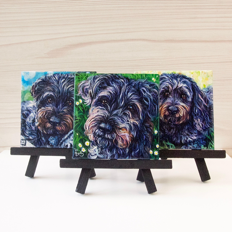 Trio of Mini Pet Portraits
