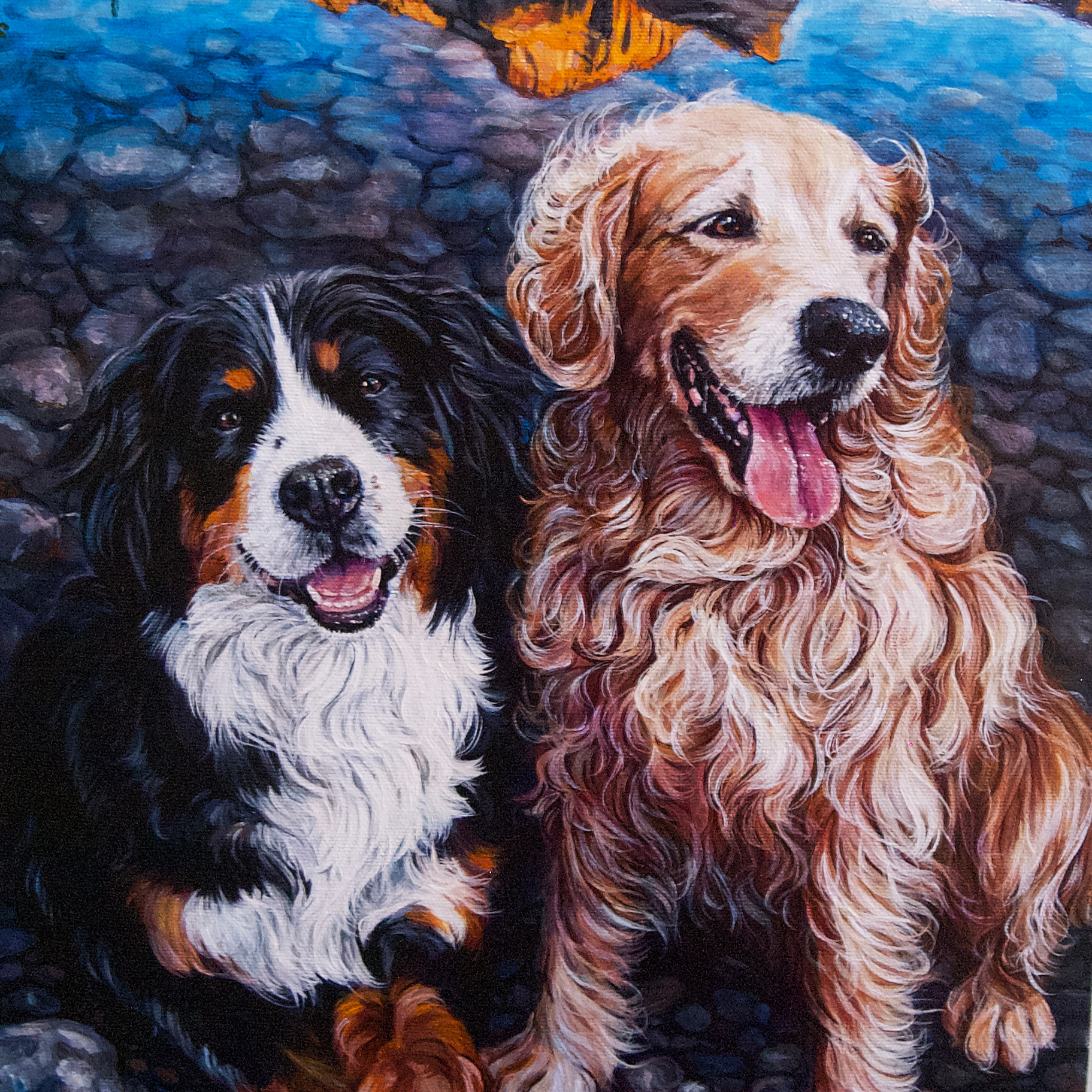 """12"""" x 16"""" Two Pets 3/4"""