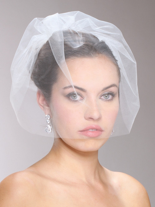 Handmade Tulle Birdcage Blusher Bridal Veil