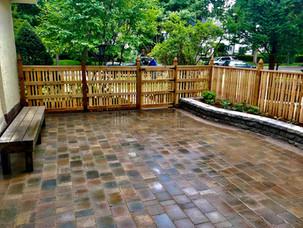 Concrete-Paver-Patio-Custom-Cedar-Fence-