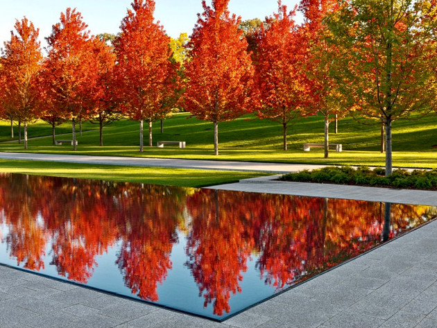 Lakewood-Cemetary-Reflecting-Pool-Trees-