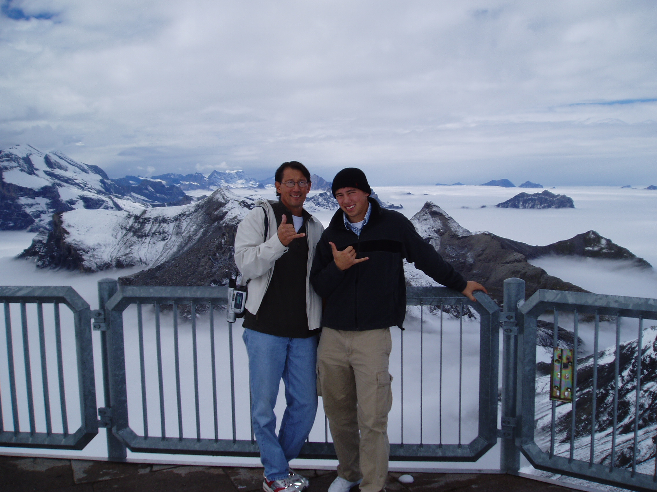 Roger and Jake in Switzerland