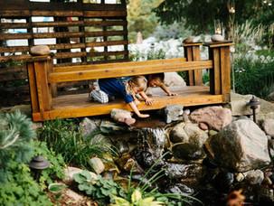 Waterfall-Pond-Custom-Wood-Bridge-Minnes