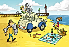 Balada'Deuche pique-nique plage