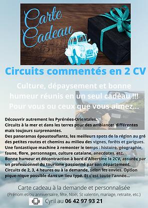 Carte cadeau circuits Balada'Deuche