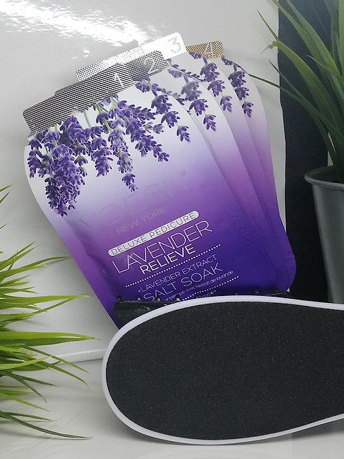 Lavender Relieve Pedi in a Box 4 Step and foot file