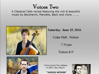 VOICES TWO: Cello Concert in Nelson
