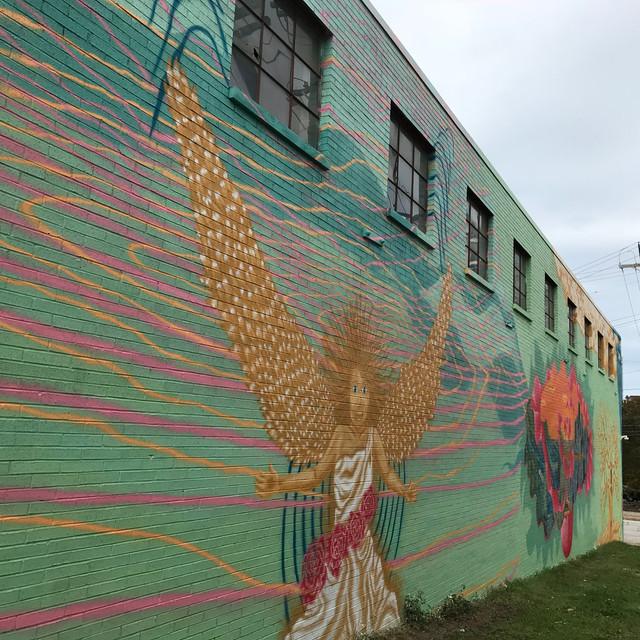Divine Blessings mural at Tenk Building