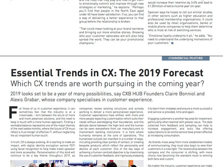 ENGAGE CUSTOMER REPORT - Engage Business Media - Essential Trends in CX: the 2019 Forecast