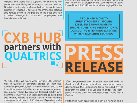 Press Release - CXB HUB partners with Qualtrics