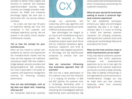 INFO Mag - CCFGB - Customer Experience 2.0