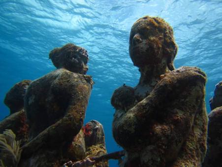 Povandeninis skulptūrų muziejus Moterų saloj (Isla Mujeres)