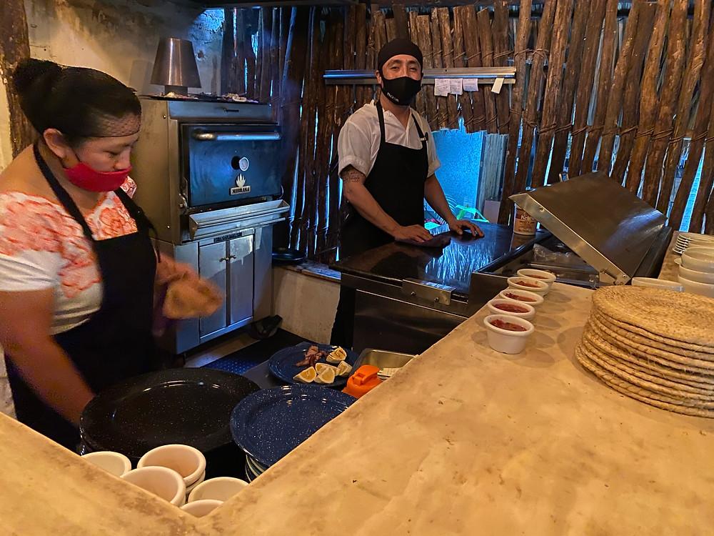 "Fresh homemade salsas at ""Kinich"" Izamal. Traditional Yucatan Cuisine"