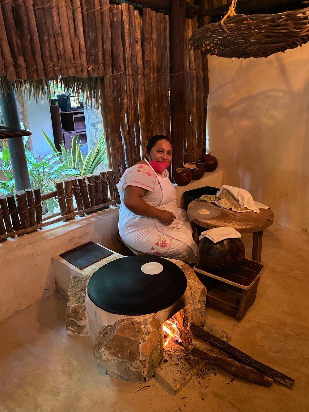 "Homemade tortillas at ""Kinich"", Izamal. Traditional Yucatan Cuisin"