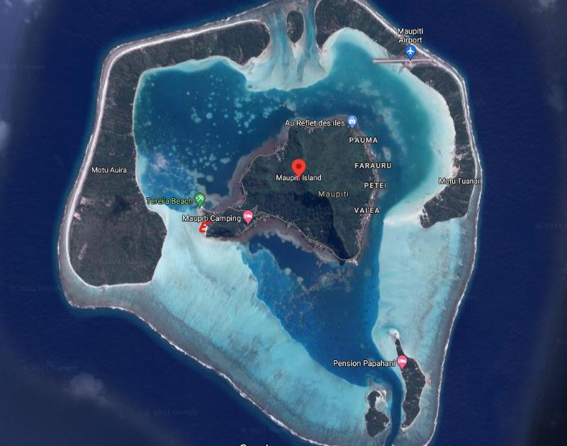 Maupiti map Espace beach Maupiti