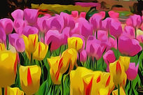 Abstract (1) Tulips - MOST SMOOTHED -Abs