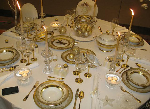 Royal Gold 12 Persons Dinner Set