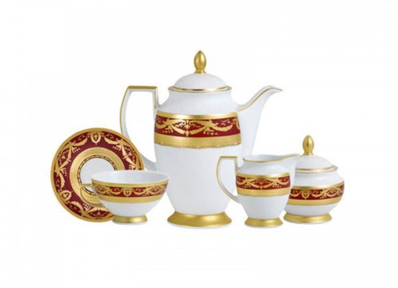 Imperial Gold Bordeaux Coffee Set For 6 Persons