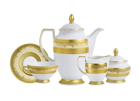 Imperial Gold Coffee Set 15 Pieces For 6 Persons