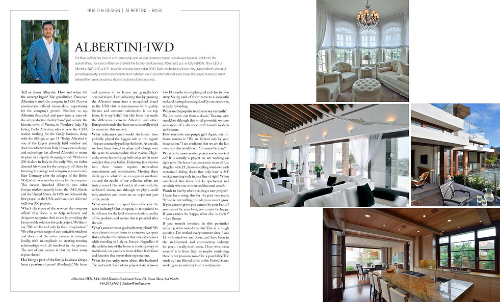 Feature Albertini on bask magazine