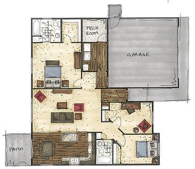 three bedroom patio home