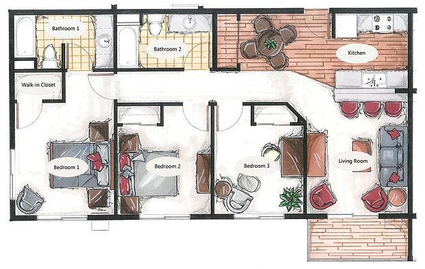 handicap accessible two bedroom apartment