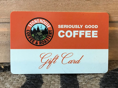 Stonehouse Coffee Gift Card $10-$50