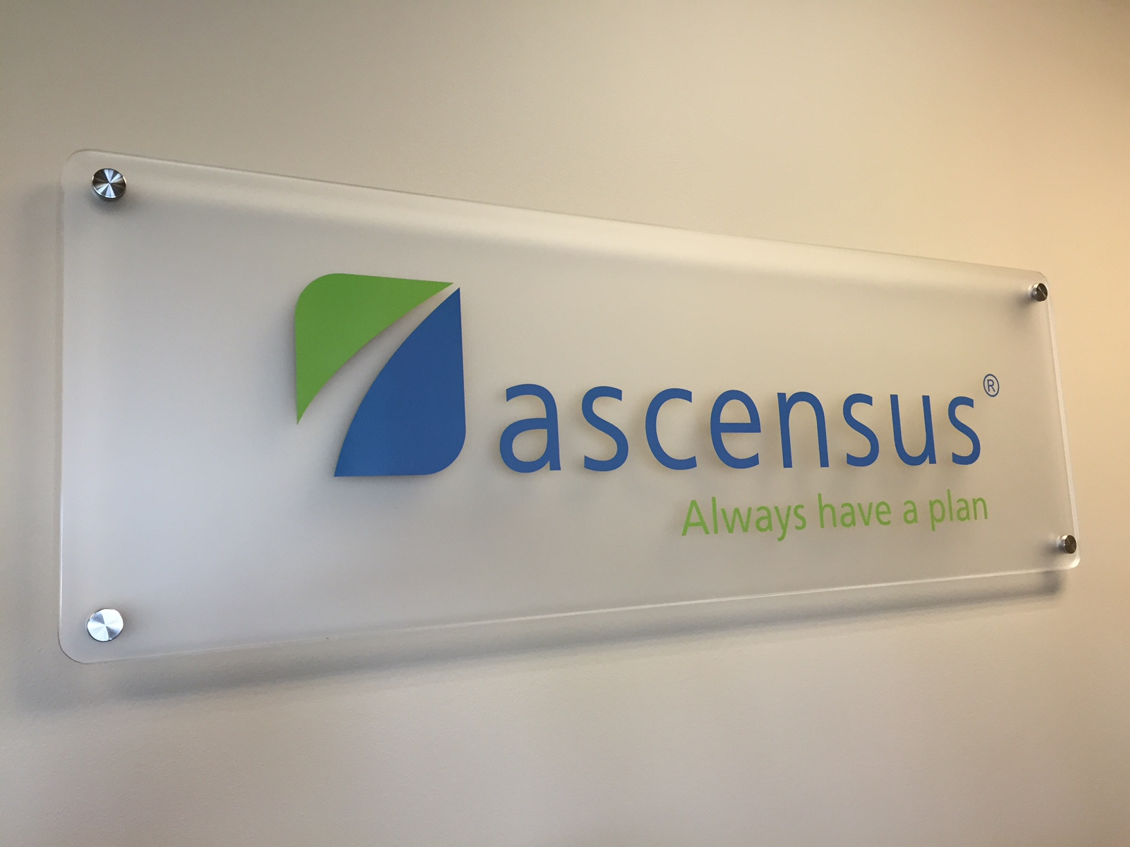 Ascensus Desk Sign