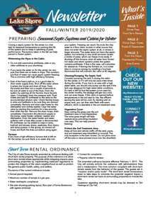 Fall/Winter Newsletter Available!