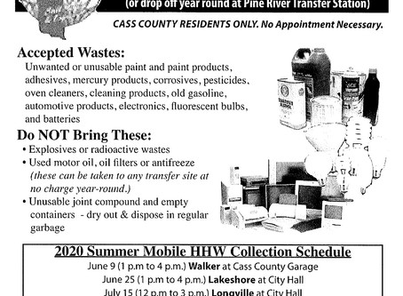 Household hazardous waste collection at Lake Shore City Hall