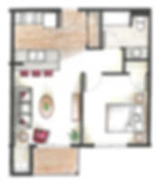 one bedroom one bathroom apartment