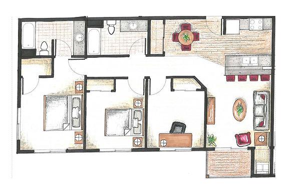 three bedroom apartment