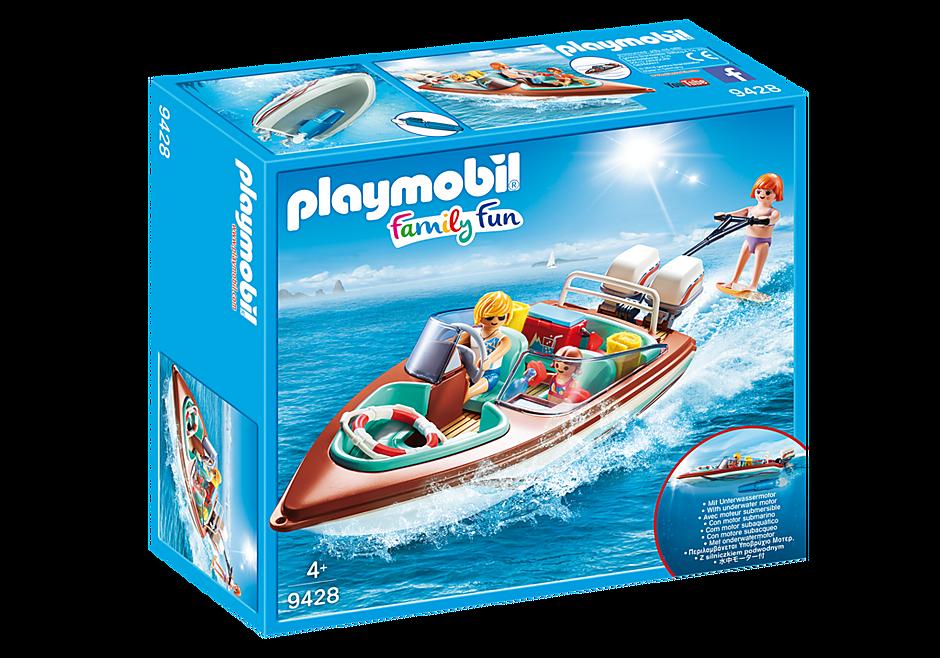 Speedboat with Underwater Motor