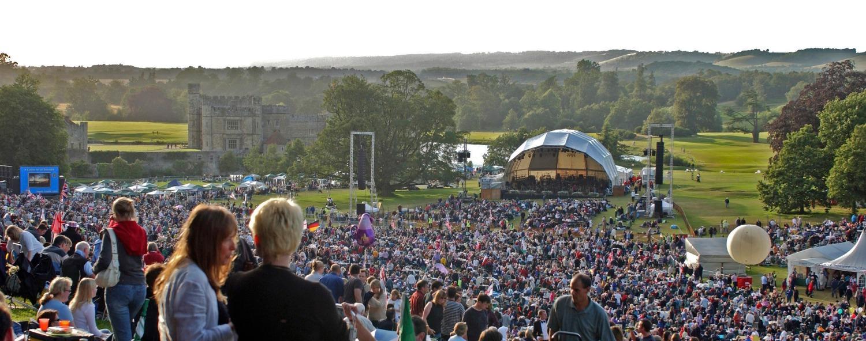 Concert at Leeds Castle Kent England