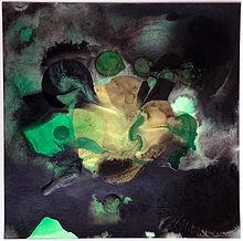Dark Minerals on Paper 2020 Green Floate