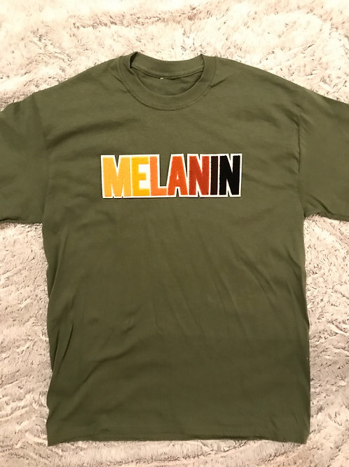 Melanin Patch- Adult Tee-Olive