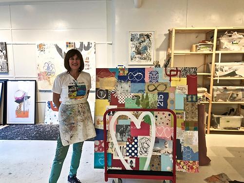 BibbyArt in art studio gallery Showroom in ICB Building Sausalito